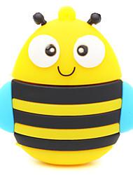zpk25 64gb abelha dos desenhos animados amarelo unidade de memória USB 2.0 Flash u vara