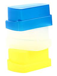 NEW Silicon Flexible Flash Bounce Diffuser Softbox White+Yellow+Blue for Nikon SB800/SB600 YN-460 YN-465 YN-467 YN-468