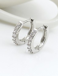 Earring Drop Earrings / Hoop Earrings Jewelry Women Alloy / Cubic Zirconia / Platinum Plated 1set Silver