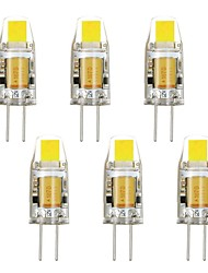 6 st No G4 2W 1 COB 160-190 LM Varmvit / Kallvit T Dekorativ LED-lampa DC 12 / AC 12 V