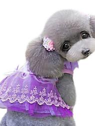 Dog Dress Pink / Yellow / Purple Summer Fashion