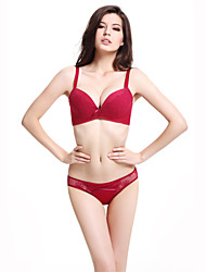 Meiqing® Basic Bras & Panties Sets Nylon / Spandex Red - M12S1022