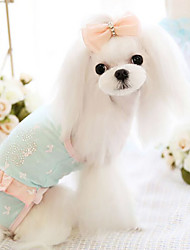 Dog Clothes/Jumpsuit / Clothes/Clothing Blue / Pink Spring/Fall Fashion