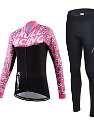 CHEJI Bike/Cycling Jersey + Pants/Jersey+Tights / Arm Warmers / Jersey / Clothing Sets/Suits Women's Long SleeveBreathable / Ultraviolet