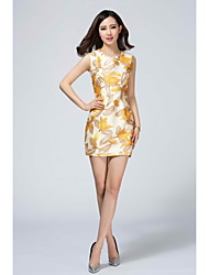 LIFVER Women's Round Neck Sleeveless Above Knee Dress - XZ52082