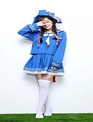 japão lindo traje lolita azul de marinheiro