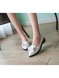Women's Shoes Flat Heel Pointed Toe Loafers Casual Black / White