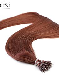"""neitsi® 20 """"1 g / s nano Ringschleife gerades Haar 100% Echthaar Haarverlängerungen 33 # include Haar-Tools"""
