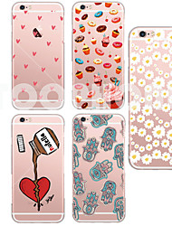 For iPhone 7 MAYCARI®Cake Soft Transparent TPU Back Case for iPhone 5/5S