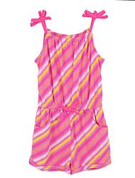 Girl's Red Dress,Stripes Cotton Summer
