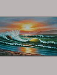 Pintados à mão Paisagem / Fantasia / Paisagens AbstratasEstilo 1 Painel Tela Pintura a Óleo For Decoração para casa