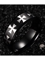 316 Stainless Steel Cross Men Ring