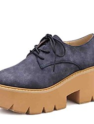 College large base sponge single female lace-up shoes summer wind for women's shoes