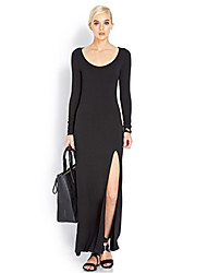 Women's Sexy Slit Halter Dress