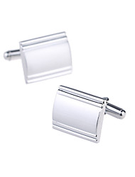 Rectangle Striated Cuff Buttons Jewelry  Gifts Men's Shirt cuff (1 pair)