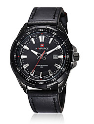 Men NAVIFORCE Fashion watch Quartz Waterproof Sports Watch Calendar Genuine Leather Wristwatch(Assorted Color) Wrist Watch Cool Watch Unique Watch