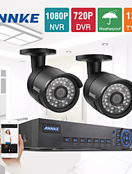 Annke® 4CH 960H 720P 1200TVL Network DVR CCTV Video Surveillance Security Cameras System