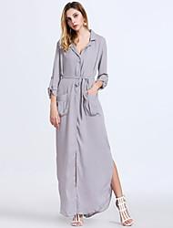 Women's Fashion Casual / Work / Holiday / Party Chiffon Maxi Dress