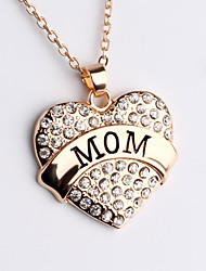 The Popular Full Diamond Heart Carving Pendant Necklace