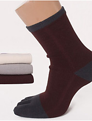 Men's Cotton Toe Socks in Tube Socks Toe