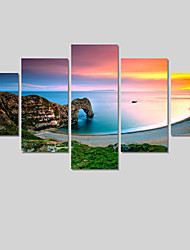 2016 Modern 5 Panel Painting Printed Lake Scenery Painting Wall Pictures For Linving Room Canvas Art No Frame