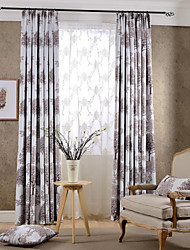 The Tree Two Panels Botanical Bedroom Polyester Blackout Curtains Drapes