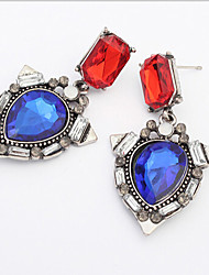 MISSING U Vintage / Party Alloy / Rhinestone / Gemstone & Crystal Drop Earrings