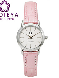 KEDIEYA Top Brand 5 Colors Genuine Leather Waterproof Women Quartz Watch Pink Wristwatch