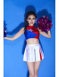 Tenue(Bleu,Elasthanne,Costumes de Pom-Pom Girl)Costumes de Pom-Pom Girl- pourFemme Appliques Spectacle Chaussures de Sport