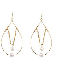 Drop Earrings Pearl Alloy Drop Golden Jewelry Wedding Party Daily Casual Sports 2pcs