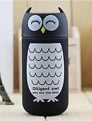 220ML Cute Stainless Steel Owl Flask Vacuum Thermal Cup Heat Insulating Mug