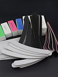 52pcs / set lixar arquivos de arte bloco amortecedor do prego ferramentas salão de manicure pedicure kits conjunto de gel uv