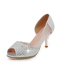 Women's Wedding Shoes Heels / Peep Toe Sandals Wedding / Party & Evening / Dress Silver / Gold