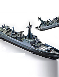 Jigsaw Puzzles 3D Puzzles Building Blocks DIY Toys Warship Paper Green / Gray Model & Building Toy