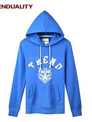 Trenduality® Herren Rundhalsausschnitt Lange Ärmel Kapuzenpullover & Sweatshirts Hellblau - 47056