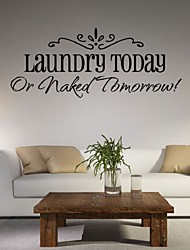 Laundry Today Or Naked Tomorrow Vinyl Wall Decal Lettering Quotes Saying Room Decor Wallstickers Paper