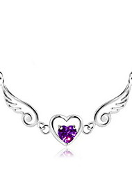 Korea 925 Sterling Silver Love Angel Necklace