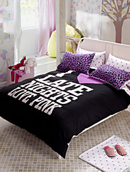 Direct Selling Black Bedding Set Leopard Bedspread Qualified Bed Sheet Unique Design Duvet Cover Comforter Queen Size