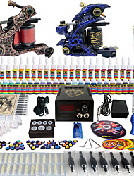 solong tattoo complete beginner tattoo kit 2 promachine s 54 inkten voeding naald grips tips tkb01