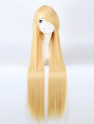venda quente de alta qualidade de cabelo sintético cosplay forma reta
