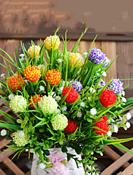 5 fourches carnation fleurs fleur de soie fleurs de soie fleurs artificielles pour la décoration maison 1pc / set