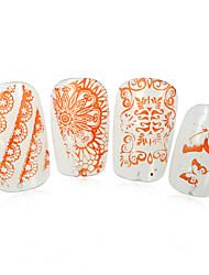 1pcs nieuwe 12x6cm image diy stamping platen nail art templates stencils voor polish xy-L28
