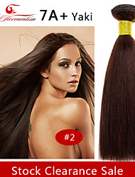 "1Pc/Lot 8""-12""7A Brazilian Virgin YaKi Hair Natural Color Straight Human Hair Weave ,Hair Weft"