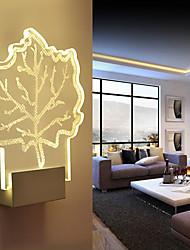 Childern 3D Design Plant Maple Leaf Pattern Wall Lamp Tiating Teaching Night Light 5W Aisle Light & Bedside Lamp for Kid
