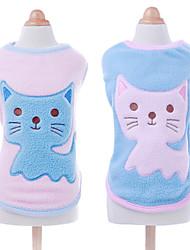 Dog Shirt / T-Shirt Blue / Pink Dog Clothes Spring/Fall Cartoon Fashion