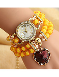 The heart-shaped bracelet watch winding