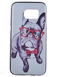 Para Samsung Galaxy S7 Edge Estampada Capinha Capa Traseira Capinha Cachorro PC Samsung S7 edge / S7