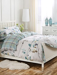 Simple Opulence 100% Cotton Coconut Button Printed Lattice King Queen Duvet Cover Set
