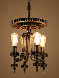 Retro Mechanical Gear Living Room Bar Coffee Shop Decorative Lighting