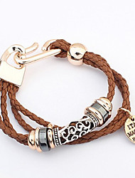 Vintage / Cute Alloy / Leather Charm / Leather / Braided/Cord Bracelet